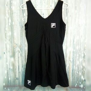 Fila tennis dress black with shelf bra
